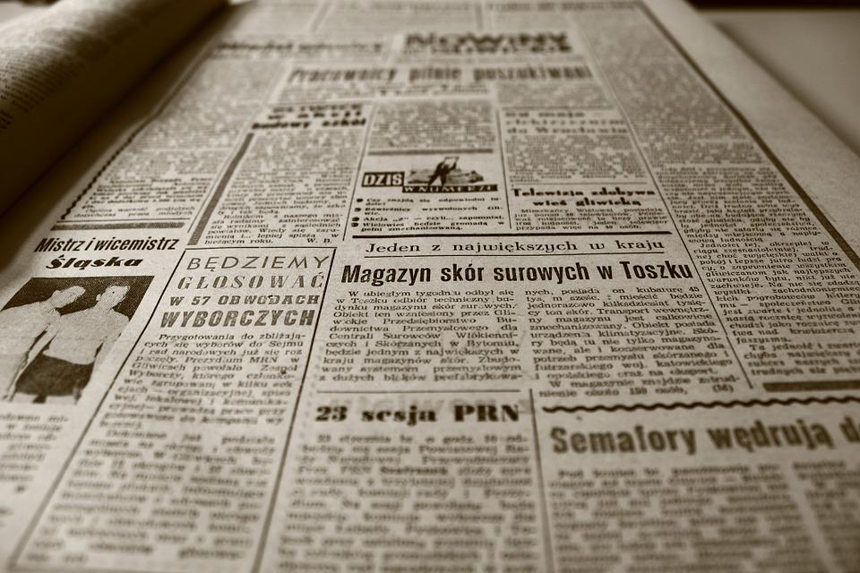 古い新聞 新聞 1960 年代 レトロ セピア 古い Nowiny Gliwickie 情報
