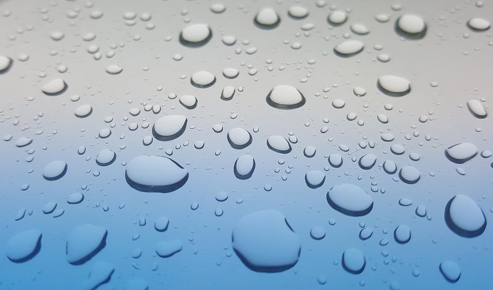 雨の雫 雨 水 しずく ウェット 天気予報 シャワー グレー ビーズ 防水 H2o