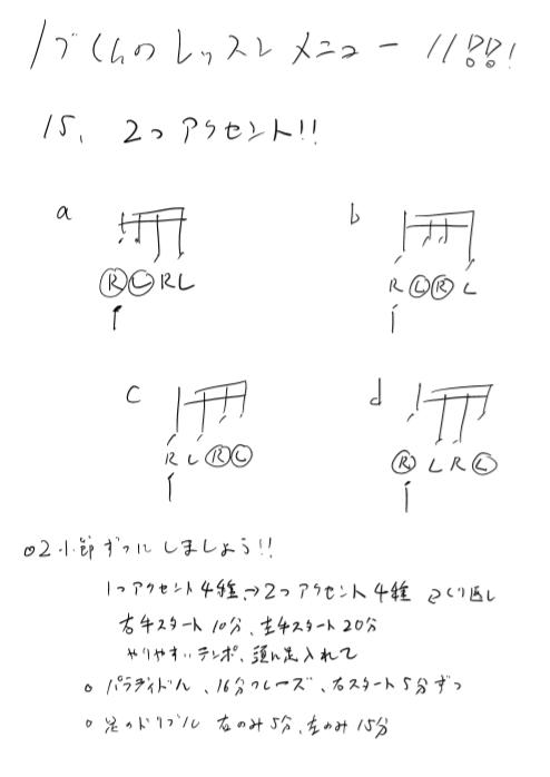 25日目のドラム練習メニュー