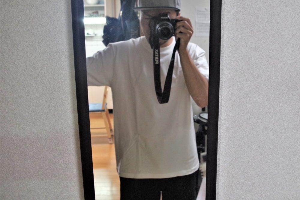 ヘインズ・ビーフィーTシャツを着てみた写真