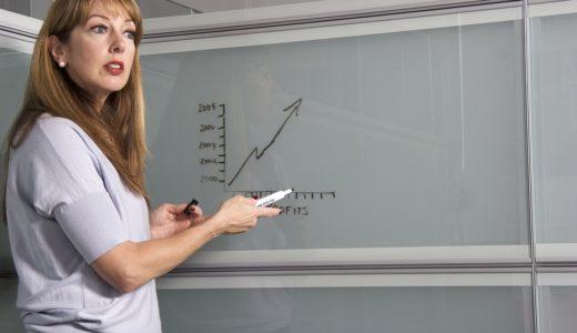 授業をしている女性の先生