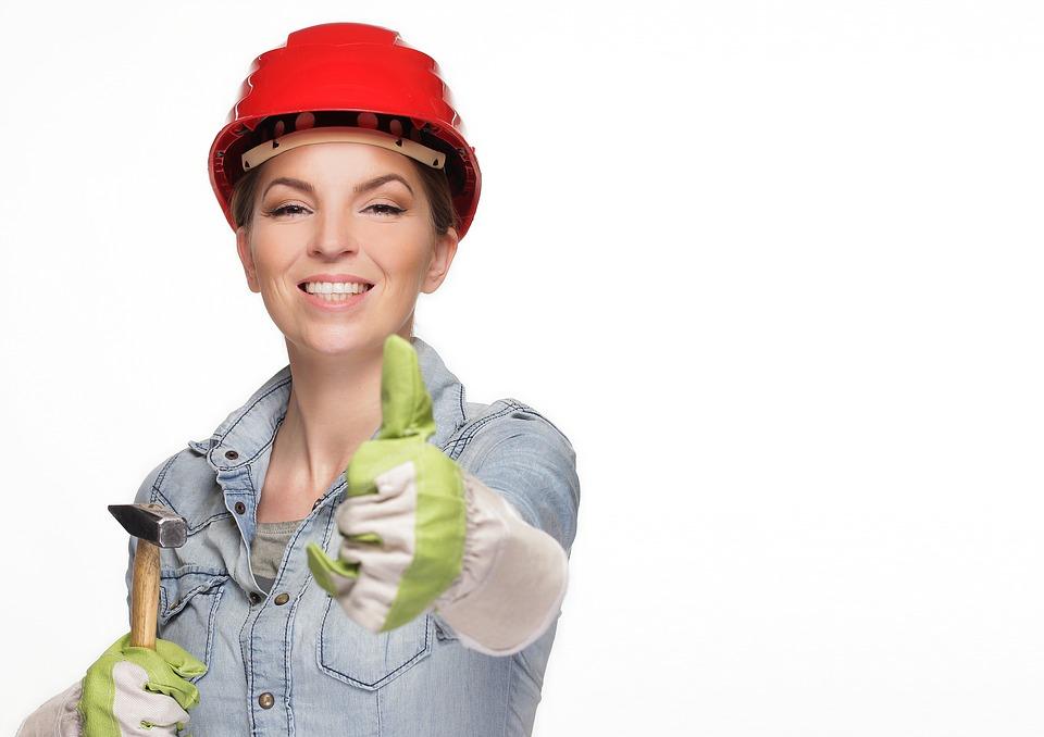 建築現場の女性
