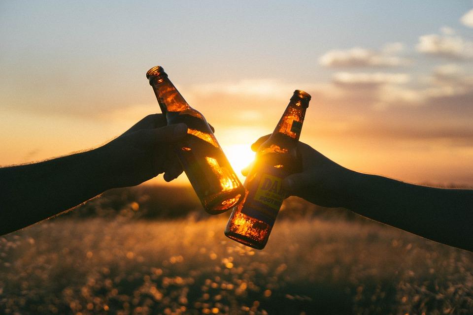 夕暮れとビール