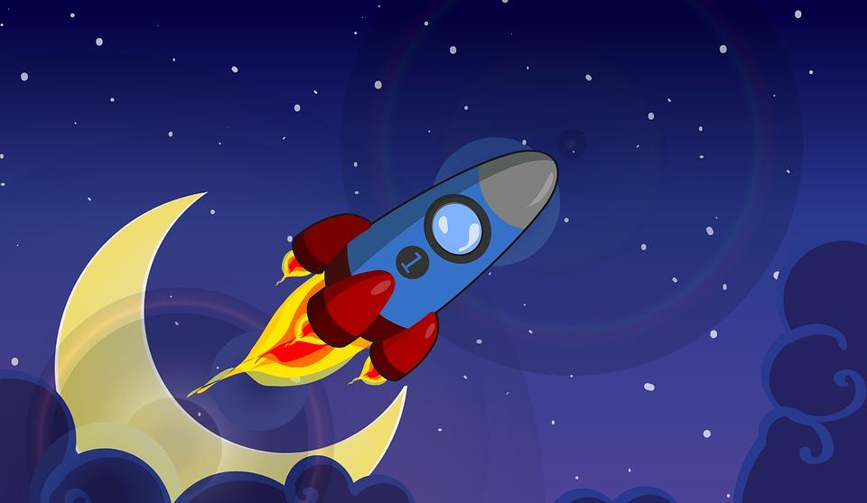 ロケットで宇宙に行く