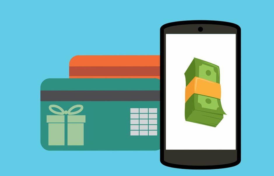 クレジットカードと電子マネー・お金の画像