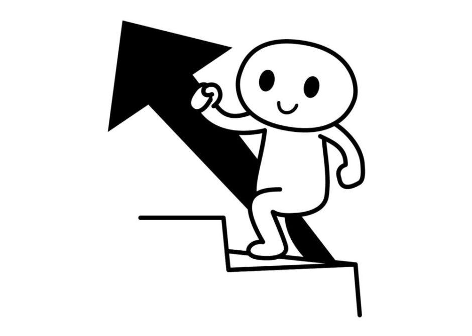 階段を上っている人