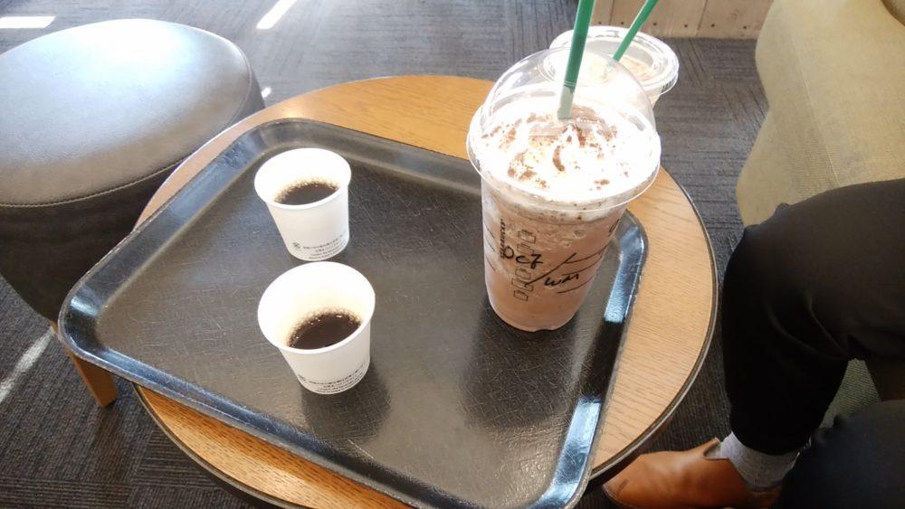 ペチペチーノとサンプルコーヒー