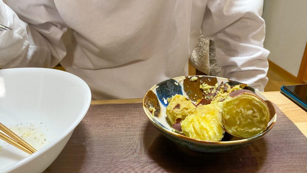 炊飯器でサツマイモふかし14