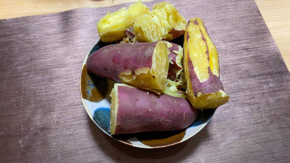 炊飯器でサツマイモふかし10