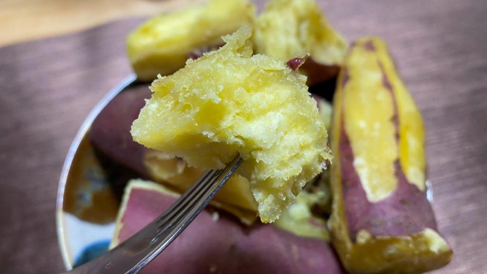 炊飯器でサツマイモふかし13