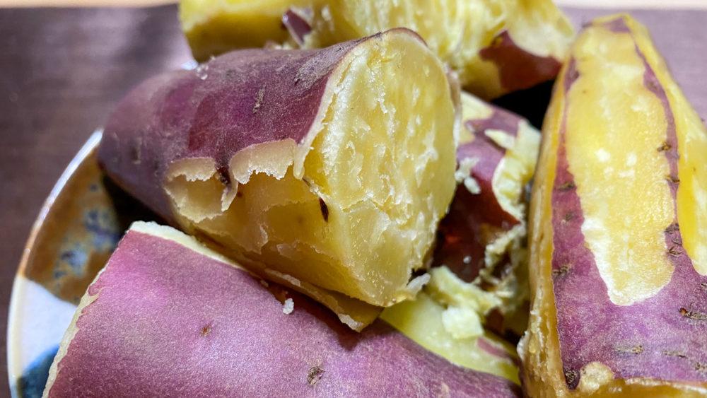炊飯器でサツマイモふかし12