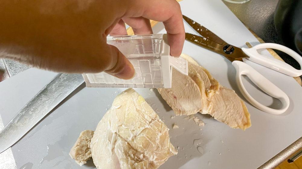 鶏むね肉を炊飯器の保温機能で低温調理 (22)