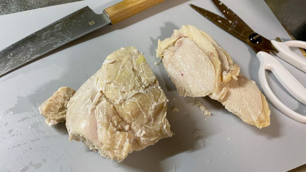 鶏むね肉を炊飯器の保温機能で低温調理 (21)