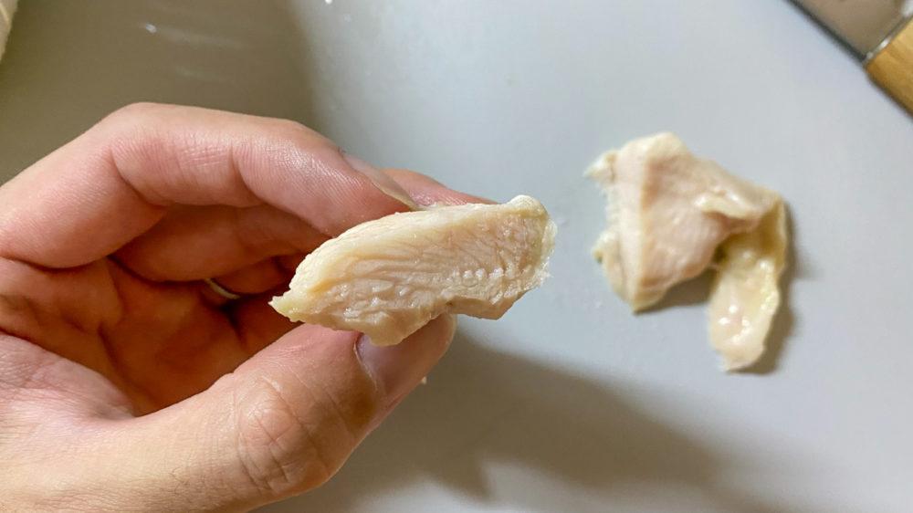 鶏むね肉を炊飯器の保温機能で低温調理 (34)