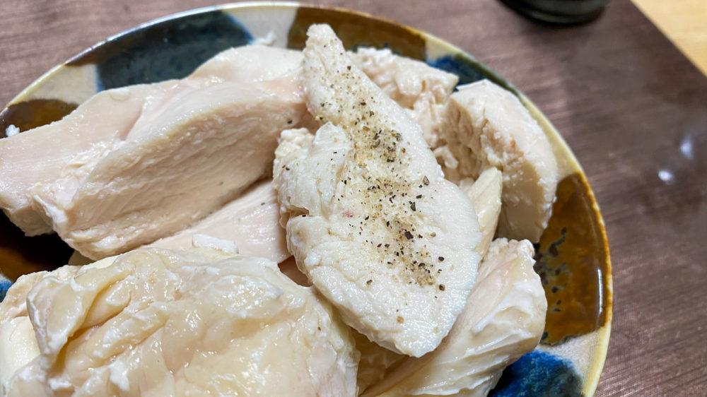 鶏むね肉を炊飯器の保温機能で低温調理 (26)