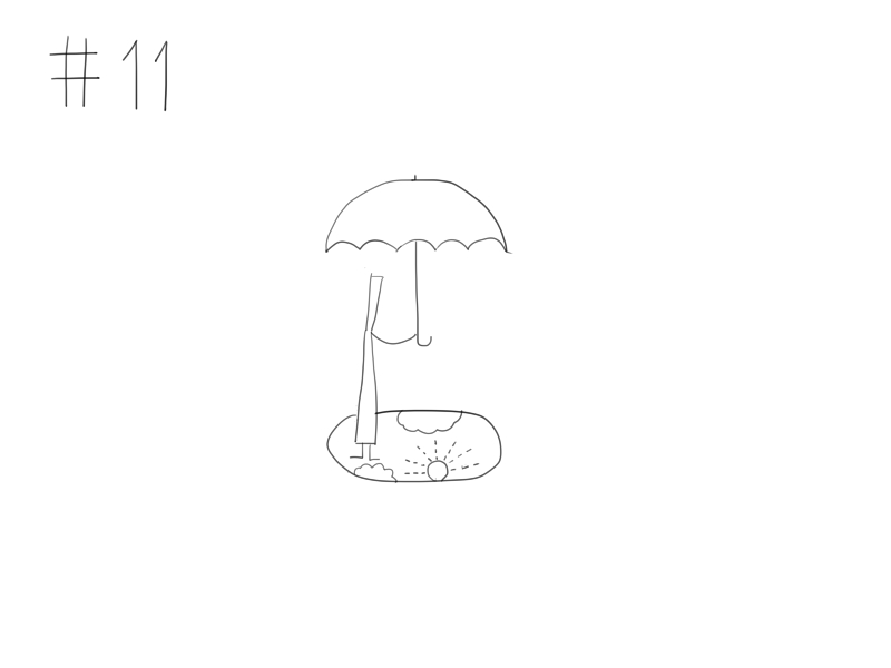 #11 傘をさすイラスト