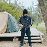 キャンプ場での練習