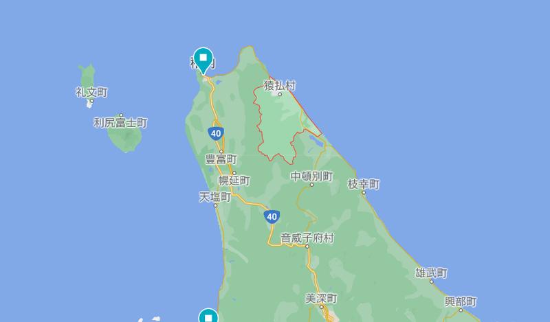 猿払村の地図