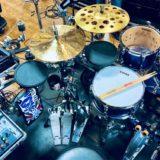 青山さんのドラムセット
