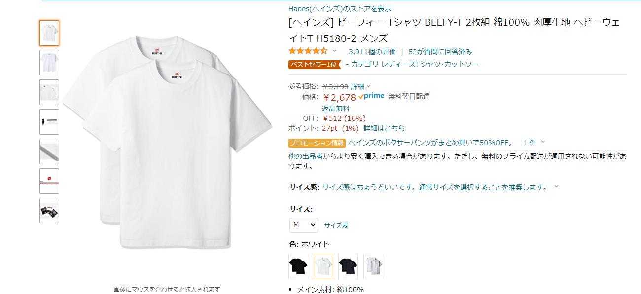 ビーフィーTシャツ